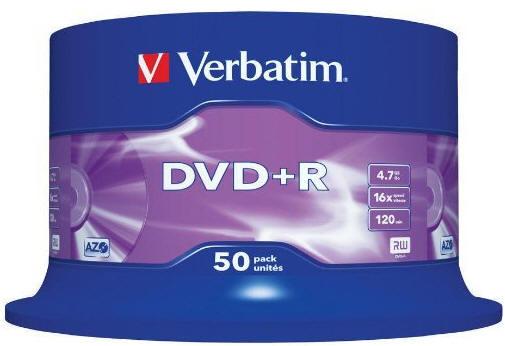 Boite de 50 DVD enregistrables