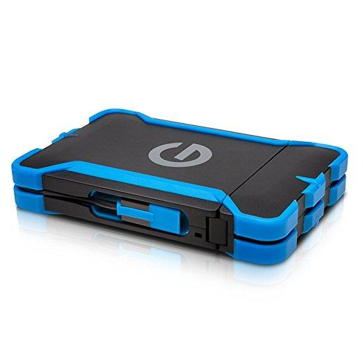 G-Technology G-DRIVE ev ATC 1000Go Noir, Bleu - disques durs externes