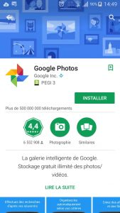 Application Google Photo pour Android - Jesauvegardemesdocuments.fr