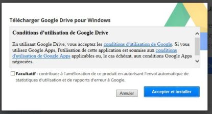 Installation Google Drive - Jesauvegardemesdocuments.fr