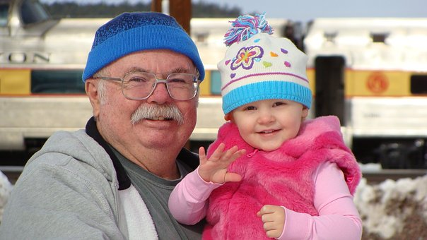 Photo papi avec sa petite fille