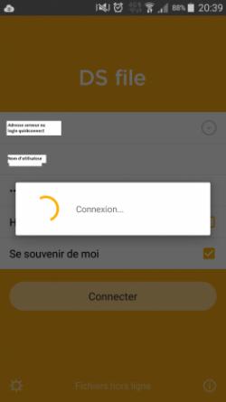 Page de connexion à Synology DSFILE - Jesauvegardemesdocuments.fr