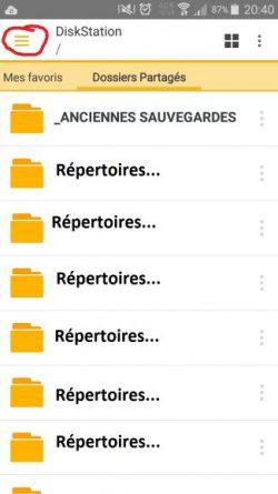 Synology Ds File - Vue des répertoires partagés - Jesauvegardemesdocuments.fr
