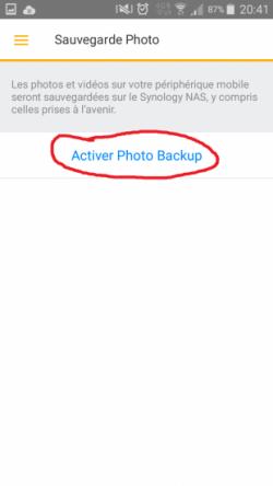 Synology Ds File - Activer Photo Backup - Jesauvegardemesdocuments.fr