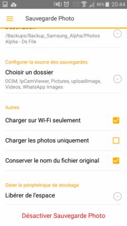 Synology Ds File - Sauvegarde photos, choix type de connexion pour synchroniser données et économie de batterie lorsque en charge - Jesauvegardemesdocuments.fr