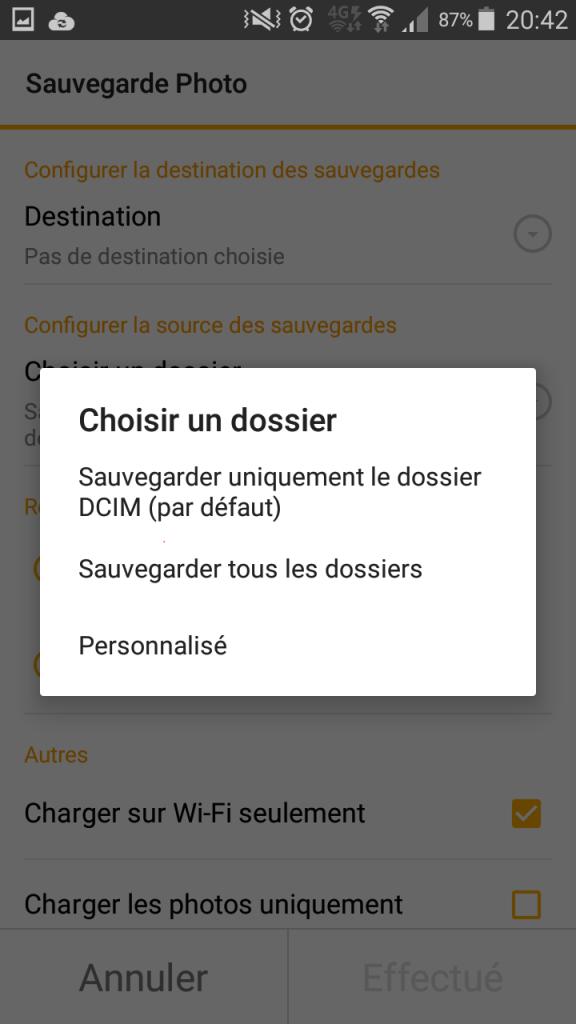 Synology Ds File - Photo backup choix des dossiers a sauvegarder - Jesauvegardemesdocuments.fr