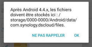 DSCLOUD - message sous Android-4.4.x - Jesauvegardemesdocuments.fr